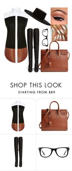 """""""Untitled."""" by styledbynineaux ❤ liked on Polyvore featuring Josh Goot, Yves Saint Laurent, Aquazzura, Muse and Brixton"""