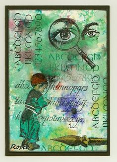 Rosie's Bastelwelt: Alphabets - Art Journey - Brusho