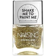 Nails inc New Globe Walk Snow Globe Nail Polish/0.47 oz. (1640 RSD) ❤ liked on Polyvore featuring beauty products, nail care, nail polish, nails, beauty, apparel & accessories, no color, nails inc. and nails inc nail polish