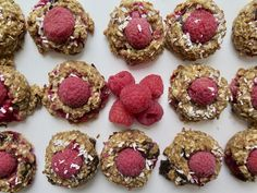 The Bomba Rosa - Madame Labriski Cookie Recipes, Toddler Meals, Biscuits, Delish, Raspberry, Frozen, Coconut, Gluten Free, Recipes