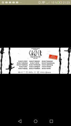 Lang lebe der Tod Tour 2017   und ich bin dabei am 23.2.17 in Erfurt das 1. Casper Konzert *freu*