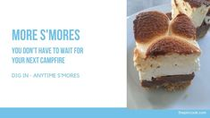 Dig in anytime S'mores @thepincook.com 9x13 Baking Pan, Baking Pans, Graham Cracker Crust, Graham Crackers, Yummy Treats, Sweet Treats, S'mores Bar, Mini Marshmallows, Pinterest Recipes