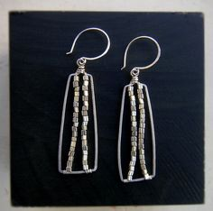 wire wrapped square hoops by bellanti jewelry on etsy