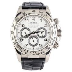 Rolex White Gold Daytona Chronograph Automatic Wristwatch   1stdibs.com