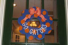 Salty Sisters Gators wooden wreath