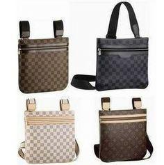 Loui Vuitton Damier Ebene Canvas Pochette Bosphore Shoulder Bags N51111  43 8596029a30ec6