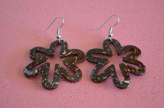 Handmade Coconut Shell Flower Earrings, Fashion Stylish Earrings Holidays Gift  #Handmade #DropDangle