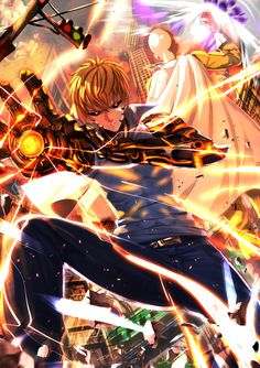 One punch man - Genos (& Saitama) by 刃天 on pixiv