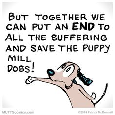 #AdoptDontShop for your furry friends! #PuppyMillActionWeek #HSUS #MUTTScomics