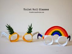 Make Toilet Roll Glasses! Craft Activities, Preschool Crafts, Crafts For Kids, Children Crafts, Toilet Roll Craft, Toilet Paper Roll Crafts, Paper Towel Crafts, Egg Carton Crafts, Horse Crafts