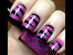 Animal Print Nail Art Design Video - Long  Nails Easy Nail Polish Designs (no DIY Tutorial)