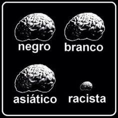 Essa imagem resume como vejo um racista. A pior forma é quando, mesmo dotada de…