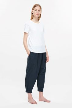 COS | Overlap cotton trousers