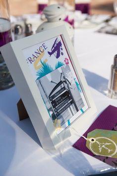 4. #Travel #Theme #Wedding #Table Names... - 8 Ways to Plan a Travel #Themed Wedding... → Wedding #Photo