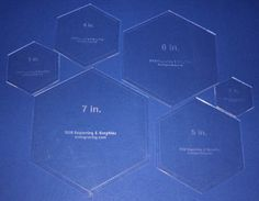 Hexagons. One of many sets available on Ebay.