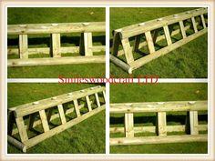 Wooden Horse Jumps, bespoke horse jump. Jump filler, cross country jump | eBay