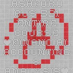 ASHFORD BUS 591 Entire Course *Financial Accounting & Analysis*