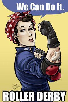 Rosie the derby gal by sw.deviantart.com on @DeviantArt