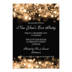 new years eve party sparkling lights gold announcement personalized invitations gold wedding invitations invites