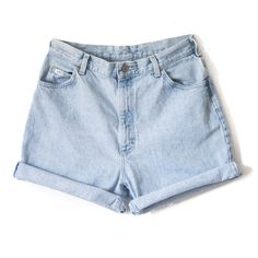 High Waisted Jean Shorts Cutoff Cuffed All Sizes All Brands Levis... (49 BRL) ❤ liked on Polyvore featuring shorts, bottoms, pants, short, women's clothing, silver, high waisted shorts, short shorts, frayed jean shorts and cut-off jean shorts