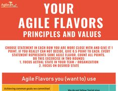 Which Agile flavors values and principles you (want to) follow Agile Software Development, Leaving A Job, Process Flow, Just Keep Going, Learn Faster, Positive Attitude, Excercise, Looking Back, Ejercicio