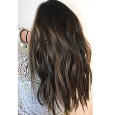 Trendy Hair Color At Home Before And After Brown Hair Balayage, Brown Blonde Hair, Brunette Hair, Hair Highlights, Dark Hair, Long Brunette, Brunette Color, Bayalage, Hair Lights