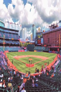 Painting - Oriole Park Baltimore Orioles Baseball Ballpark Stadium by Christopher Arndt , Baltimore Orioles Baseball, Mlb Stadiums, Baseball Field, In The Heights, Construction, Park, Painting, Content, Website