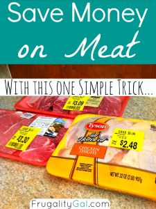 Simple trick to save money on meat at the grocery store... Buy them at night! Some stores might even mark down prices in the mornings, be sure to ask.