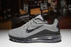 401f67bb Nike Air Max 2018 Grey Black Men Nike Running, Running Trainers, Mens  Running,