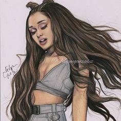 We are in it to win it but she is in it to kill it. Ariana Grande Anime, Ariana Grande Tumblr, Ariana Grande Drawings, Ariana Grande Fotos, Ariana Grande Wallpaper, Chica Cool, Celebrity Drawings, Wow Art, Dangerous Woman