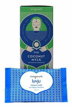 'loving earth' has the best raw chocolate going around! try this coconut mylk luvju - raw organic chocolate