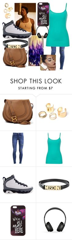 """""""In The Studio With Trevor Jackson"""" by randombitch1996 ❤ liked on Polyvore featuring Chloé, New Look, maurices, Moschino, Disney, L'Oréal Paris and Beats by Dr. Dre"""