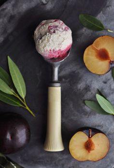 Bay Leaf and Roasted Plum Ice Cream