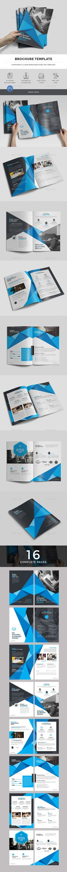 Business Brochure Template - 16 Custom Pages