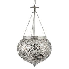 Searchlight 2812-2SS Moroccan 2 Light Ceiling Pendant Shiny Nickel