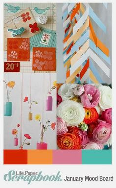 Hearts & Art: Life.Paper.Scrapbook - January Mood Board Challenge
