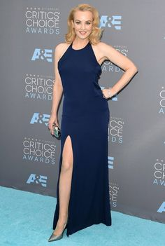 A atriz Wendi McLendon-Covey no red carpet do Critic's Choice Awards 2016.