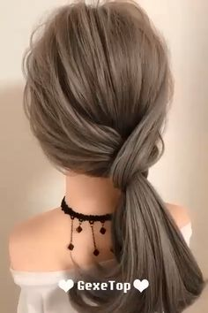 Easy Hairstyle Video, Super Easy Hairstyles, Bun Hairstyles For Long Hair, Braided Hairstyles, Ponytail Hairstyles Tutorial, Hairstyles For Working Out, Easy Hairstyles Tutorials, Wedding Ponytail Hairstyles, Classy Hairstyles
