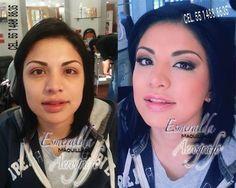 Maquillaje con aerógrafo .El antes y el después !!