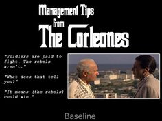 Management tip from The Godfather!