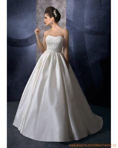 Brautkleider aus Taft schulterfreier gefallener Ausschnitt mit Ballrock
