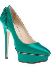 CHARLOTTE OLYMPIA - Sapato verde modelo 'Paloma'.