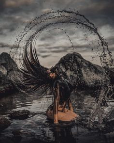 Stunning Photos Capture the Fiery Passion of People in the Ocean Fantasy Portrait Photography by Joan Carol Fire Photography, Creative Portrait Photography, Girl Photography Poses, Abstract Photography, Artistic Photography, Art Photography Women, Halloween Photography, Inspiring Photography, Stunning Photography
