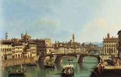 Giuseppe Zocchi da una Collezione privata Firenze e il ponte a Santa Trinita