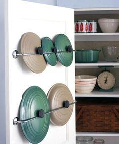 ordnung in der küche schaffen dekel praktisch platzsparend