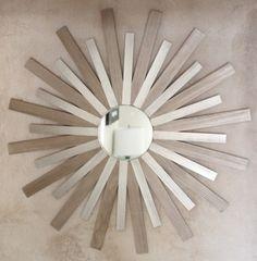 Sunburst mirror with Paint sticks