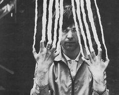 Scratch - Peter Gabriel, Claw, B&W, Paper,