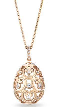 Faberge Pendant Imperial Fine Jewellery Imperatrice Diamond Rose Gold   C W Sellors Fine Jewellery and Luxury Watches