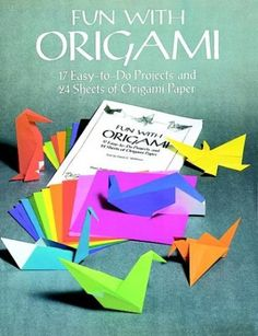 Offerta di oggi - Fun with Origami: 17 Easy-to-Do Projects and 24 Sheets of Origami Paper. (Dover Origami Papercraft) a Eur. Origami Fish, Origami Folding, Useful Origami, Paper Folding, Origami Paper, Simple Origami, Origami Birds, Oragami, Flapping Bird