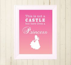 Snow White princess printable poster Children child little girls room wall decor poster design pink digital file download A4 print at home  $5.00